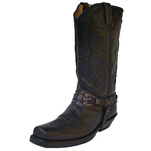 Rancho Biker Boots 9064 Black, Farbe:Black;Größe:37