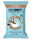 SKiNNY JiMMY! Wake It Up Protein Bar, Café Latte Flavor, 8g Protein, Uner 100 Calories, With Guarana Caffeine, Grain and Gluten Free, 24 Count, Packaging May Vary