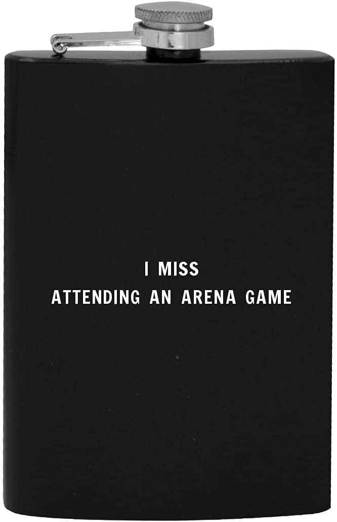 I Miss Attending Complete Free Shipping An Arena Game Flask 8oz NEW - Alcohol Drinking Hip