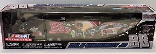 NASCAR Dale Earnhardt Jr #88 AMP Energy Passion Fruit 1/64 1:64 Scale Diecast Hauler Trailer Truck Tractor Semi Rig Transporter Metal Cab/Tractor, Plastic Trailer Authentics