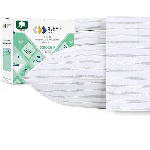 California Design Den 600 Thread Count Best Bed Sheets 100% Cotton...