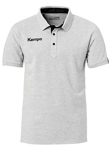 Kempa Prime Herren Poloshirt,grau(grau mélange/Schwarz),4XL