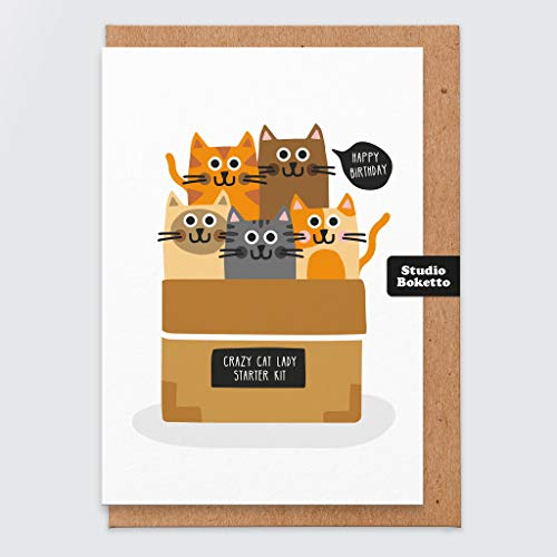 Katze Geburtstagskarte - lustige Katze Geburtstagskarte - Katze Karte - Geburtstagskarte Mama - für sie - Mädchen - Schwester - Freund - Katze Geschenke - Karte für Katzenliebhaber - Mama