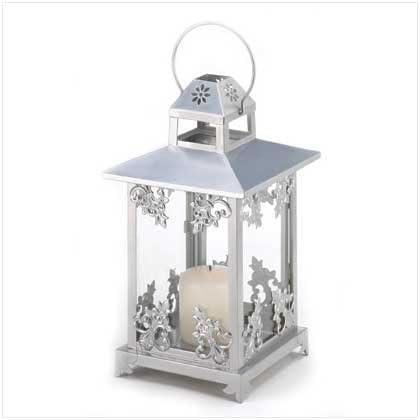 2021 model Silver Scrollwork Seasonal Wrap Introduction Candle Lantern