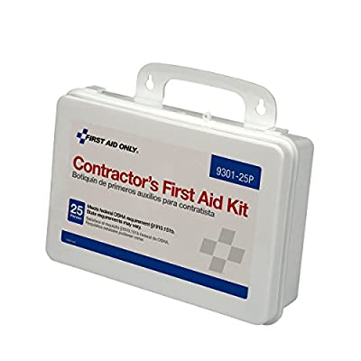 First Aid Only Contractor's First Aid Kit, Plastic, 1.7 Pound by First Aid Only