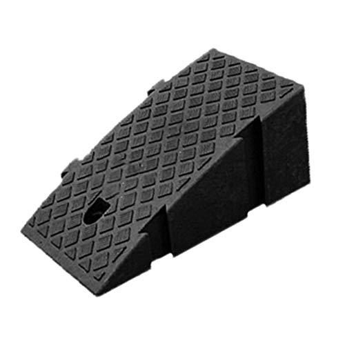 Rampas para Coches - Rampa De Plástico Compuesto para Bordillos, Portátiles Rampas De Acceso Antideslizante, 25x40x16cm, para Adecuado para Peldaños De 16-19 Cm De Altura (Negro/Amarillo)