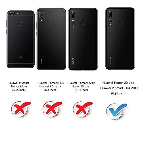 Mulbess Handyhülle für Honor 20 Lite Hülle, Leder Flip Case Schutzhülle für Huawei P Smart+ 2019 / Honor20 Lite Tasche, Cognac Braun - 2