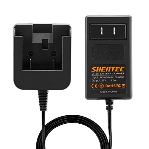 Shentec 20V Lithium Charger Compatible with Dewalt DCB205 DCB206 DCB207 DCB204 DCB203 DCB201 DCB200 DCB180 DCB181 DCB182 DCB183 DCB184 DCB205-2 Slide-in Style Battery (Not for Ni-MH/Ni-CdBattery)