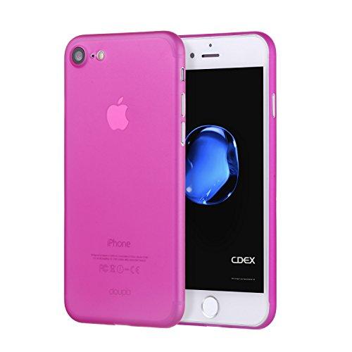 doupi UltraSlim Hülle für iPhone 8/7 (4,7 Zoll), Ultra Dünn Fein Matt Oberfläche Handyhülle Cover Bumper Schutz Schale Hard Case Taschenschutz Design Schutzhülle, pink