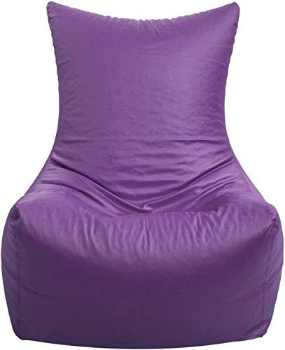 Madaar Homez Artificial Leather Chair Purple Bean Bag Cover_XXL