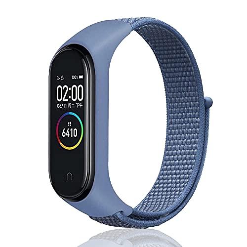 Niboow Cinturino Compatible con xiaomi mi band 6/5/4/3, Regolabile Watch Band Compatible con xiaomi mi band 6/5/4/3-Cape Cod Blue