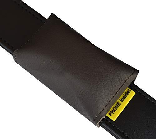 josi.li Trackertasche für GPS-Sender 72x29x16mm, Nappaleder, PVC, auch Bestickt, Farbauswahl, Adressfach, Hinweislabel, Klettverschluss, Steckverschluss (bis 30mm Halsbandbreite, Dunkelbraun)