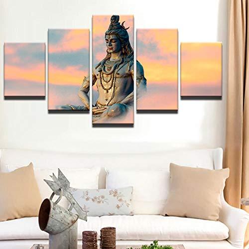 ZAQWSXCDE afbeelding op canvas wanddecoratie design muurschildering moderne hoofddecoratie muurkunst afbeeldingen India godheden God Siva canvas schilderij voor de woonkamer modulaire poster (zonder lijst)