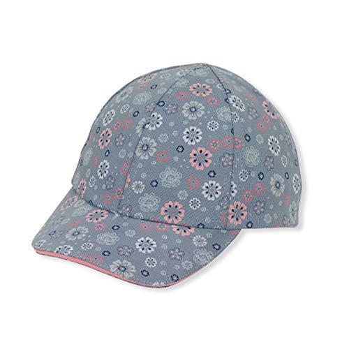 Sterntaler Baseball-Cap für Mädchen mit Gummiband und Blümchen-Motiven, Alter: 12-18 Monate, Größe: 49, Blau