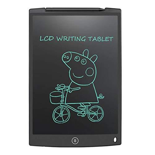 Tableta de escritura LCD de 12'Tableta de dibujo digital Almohadillas de escritura Tablero electrónico portátil Tablero ultrafino con bolígrafo negro