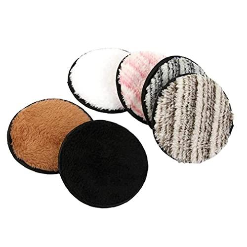 Cosmetic Coton Maquillage Removant Tapis de tissu Vuffetables Réutilisables Réutilisables Double face instantanément avec juste des lingettes d'eau pour le nettoyant facial 6pcs