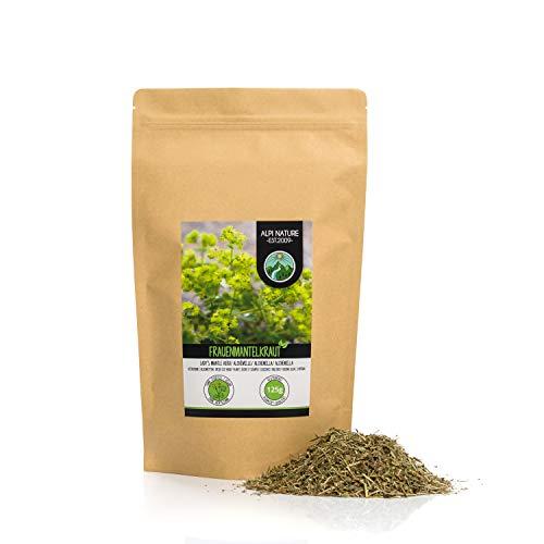 Frauenmanteltee (125g), Frauenmantelkraut geschnitten, schonend getrocknet, 100% rein und naturbelassen zur Zubereitung von Tee, Kräutertee, Frauenmantel Tee