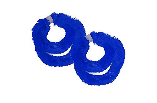 Helmecke & Hoffmann * Zwei Paar (Vier Stück) Nabenputzringe aus Chenilledraht (Blau)