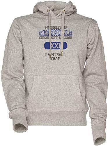 Greendale Paintball Team Unisex Herren Damen Kapuzenpullover Sweatshirt Grau Men's Women's Hoodie Grey