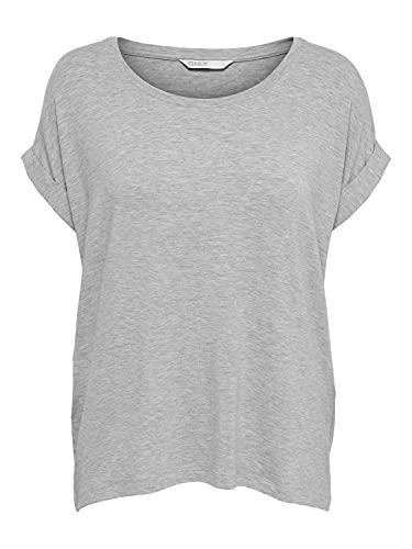 ONLY NOS Damen T-Shirt onlMOSTER S/S TOP NOOS JRS, Grau (Light Grey Melange), 42 (Herstellergröße: XL)