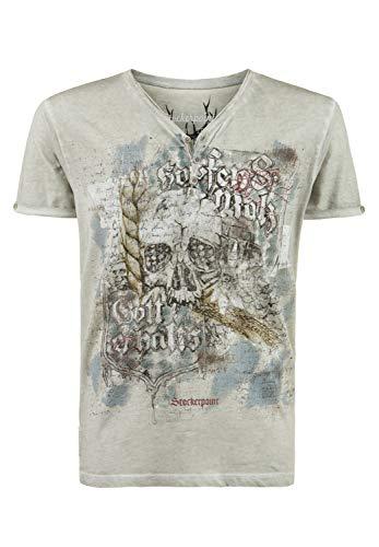 Stockerpoint Herren Shirt Bräu Trachtenhemd, Grau (Kitt Kitt), XX-Large (Herstellergröße: 2XL)