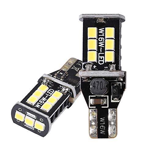 2 T15 Bulbos, WY16W 15SMD 2835 LED CANBUS LIG CANBUS LIBERTAS DE Caja DE CUCHO, Adecuados para Luces De Freno, Inversión, Rojo, Amber, Xenon White,Rojo