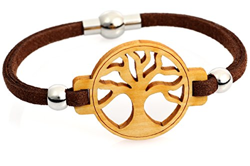 Baum des Lebens Armband - Zirbe Massivholz & Leder - inkl. modernem Etui (18)