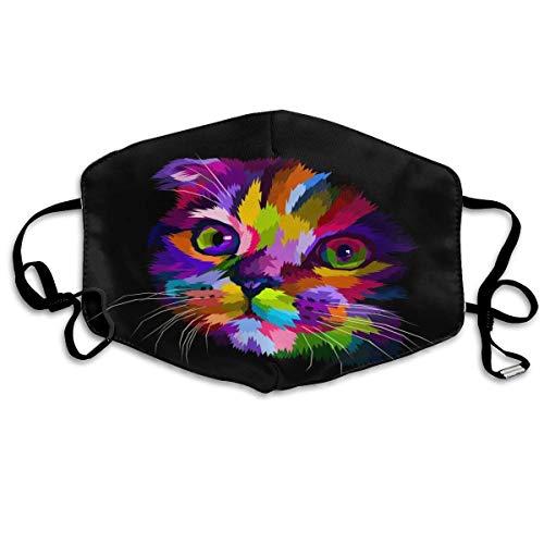 CAIQ Bandanas, uniseks, volledige bedekking, met uv-bescherming, hals en gamas, hoofdband, katten, bont