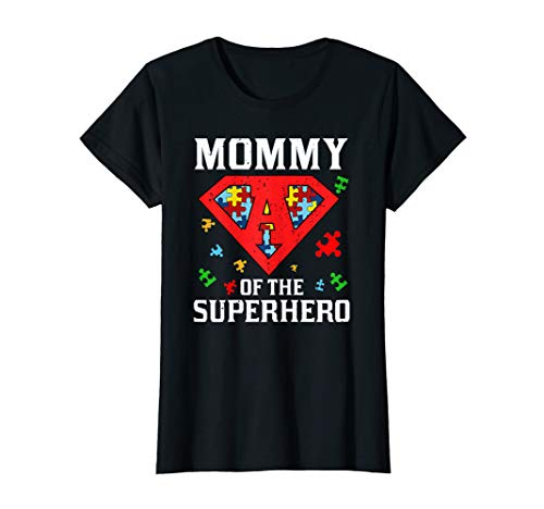 Super Mommy Tshirt Autism Awareness Gift Mother Superhero