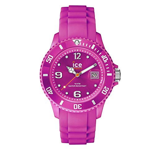 Ice-Watch - ICE forever Neon pink - Rosa Damenuhr mit Silikonarmband - 001464 (Small)