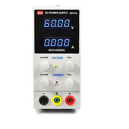 La conmutación variable La alta precisión de la fuente de alimentación portátil MCH-K605DN 60V 5A ajustable DC estabilizado Unidad de potencia eléctrica Mejoras (Size : Click to select 220V)