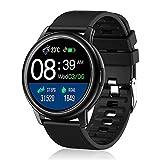 BOZLUN Smartwatch, Reloj Inteligente a Prueba de Agua IP68 con Monitor de Actividad física con Pantalla táctil Completa y Monitor de Ritmo cardíaco, 24 Modos Deportivos para Hombres para Android iOS