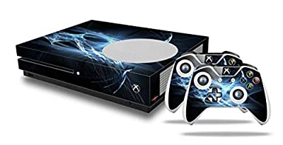 WraptorSkinz Decal Skin Wrap Set works with 2016 and newer XBOX One S Console and 2 Controllers Robot Spider Web