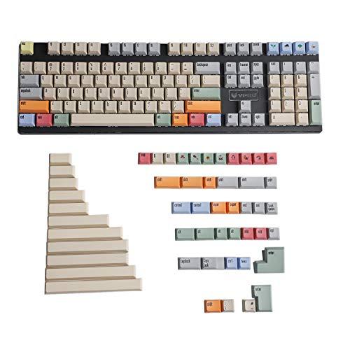 159 Tasten XDA Profile Dye Sub Dye-Sublimation PBT Keycap passend für MX Switches Mechanische Tastatur Razer Corsair Filco Cherry 96 84 (nur Keycap)