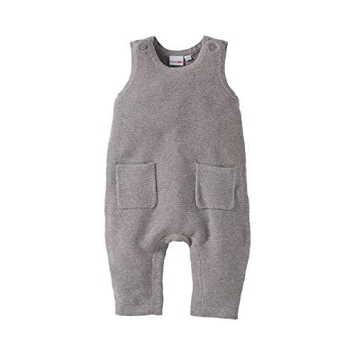 Bornino Bornino Strick-Strampler ohne Fuß - Baby-Overall mit Druckknöpfen im Schrittbereich & aufgesetzten Taschen - Einteiler aus Reiner Baumwolle