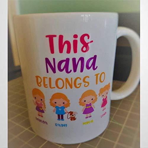 Taza de cerámica para el día de la madre, 445 ml, para abuelas, regalo de Navidad