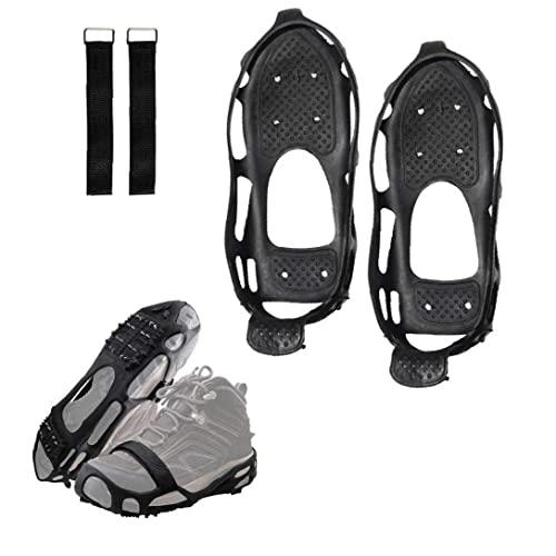 Crampones Antideslizantes Snow Traction Pendientes Tracción De Hielo Zapatos Antideslizantes Crampon Clic De Crampones Para Excursiones Al Aire Libre Y Acampar Adecuado Para Correr, Pesca, Uñas De