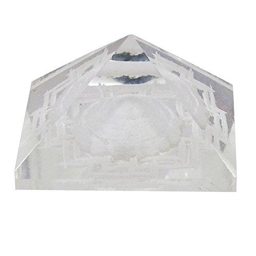 Indianbeautifulart Crystal Clear Maha Meru Yantra Pyramide Vastu Feng Shui Shree Sri Autotischdekoration