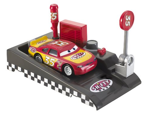 Disney Pixar Cars Pit Race-Off Shifty Drug with Launcher