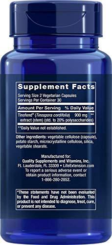 Life Extension Immune Modulator with Tinofend 60 Vegetarian Capsules