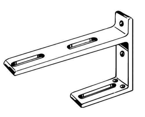 Kirsch Double Bracket For Designer Metals And Superfine Traverse
