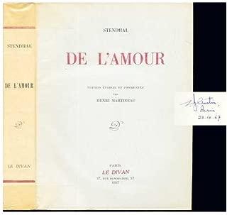 De l'amour / Stendhal ; édition établie et commentée par Henri Martineau