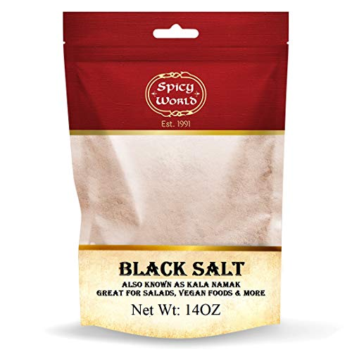Spicy World Indian Black Salt 14 oz - Pure, Unrefined, & Natural (Kala Namak)