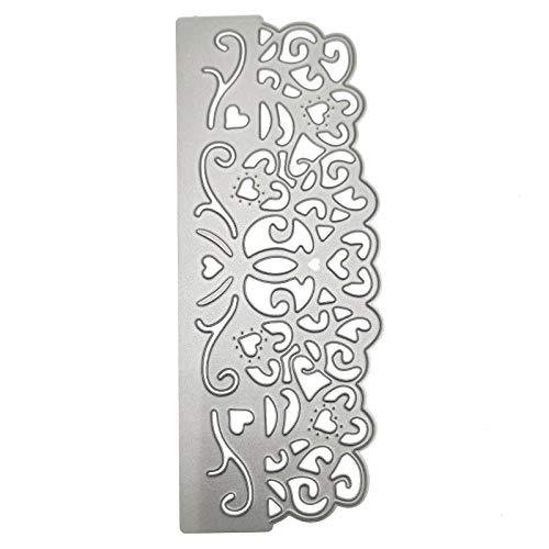 Lace Flower Heart Border Metal Cutting Dies Stencils Die Cuts for Card Making Scrapbooking Photo Album Decorative Embossing DIY Paper Cards Making Craft Dies Cut
