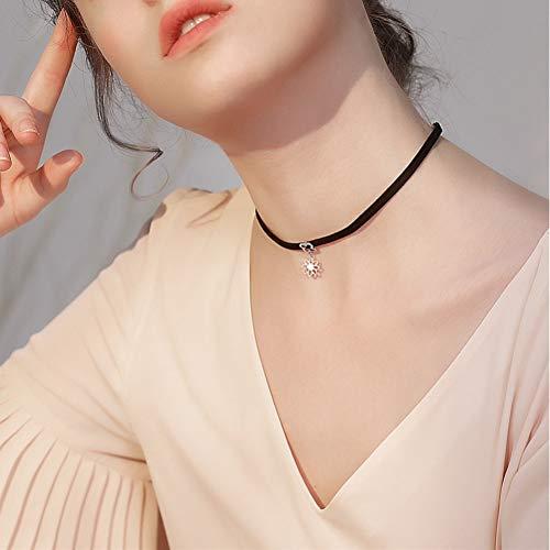 XLHJK Ketten Anhänger Halsketten for Heiße Stile Liebesdreieck Geometrie Tattoo Wassertropfen Schlüsselbein Halsketten Für Frauen Kette Schmuck