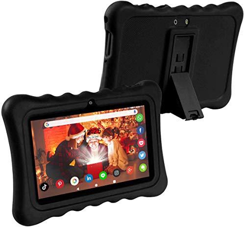 ZONKO Schutzhülle aus Silikon 10,1 Zoll 25,4 cm Tablet Silikon Schutzhülle 10 Zoll / 10,1 Zoll Schwarz