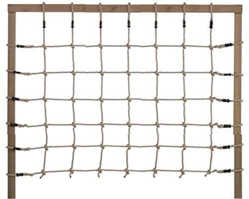 Loggyland Kletternetz Höhe 2,00m x Breite 1,50m (2,00 Meter hoch, 1,50 Meter breit) Verschiedene Netzfarben zur Auswahl HxB 2,0x1,25 ohne Holzkonstruktion (Natur)