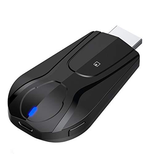 Drahtloser Display-Dongle 5G / 2,4G, tragbarer 4K-WiFi-Display-Empfänger 1080P HDMI-Bildschirmspiegelung Kompatibel mit der Unterstützung von Telefon-zu-TV-Projektoren Miracast Airplay DLNA