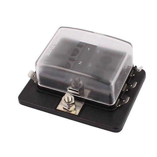 uxcell DC32V 100A Max. Small Car Terminals Circuit 6-Way Blade Fuse Block