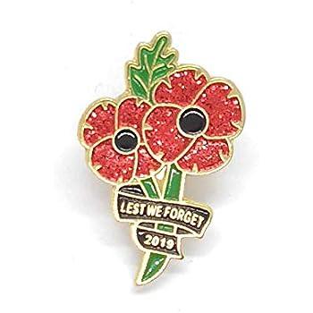 Mini 2019 World War Veteran Military Red Poppy Enamel Pin Badge Brooch SALE